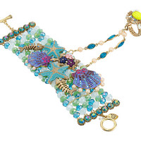 Betsey Johnson Into The Blue Beaded Bracelet/Ring Harness Blue Multi - Zappos.com Free Shipping BOTH Ways