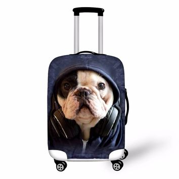 FORUDESIGNS 2018 Travel Luggage Protective Cover 3D Pug Animal Waterproof Elastic Suitcase Covers For 18-30 Inch Trolley Cases