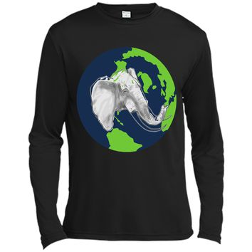 Elephant T-Shirt - Earth Day Is Everyday Shirt Long Sleeve Moisture Absorbing Shirt