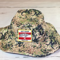 "HOOey Camo bucket hat ""Ziggy"" OSFA 1763-C NEW FOR 2017"