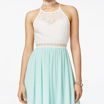 BCX Juniors' Lace Fit & Flare Dress - Juniors Dresses - Macy's