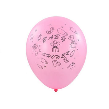 Latex Balloons Baby Shower, Toys, 12-inch, 12-pack, Pink