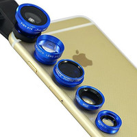 New 5 Clear Clip & Snap Camera Lenses Beautify Selfie Lens for iPhone 7 7Plus & iPhone 6s 6 Plus +Gift Box