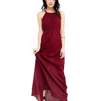 Halter Sleeveless Backless High Waist Maxi Dress