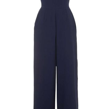 LOVE Cold Shoulder Jumpsuit In Navy