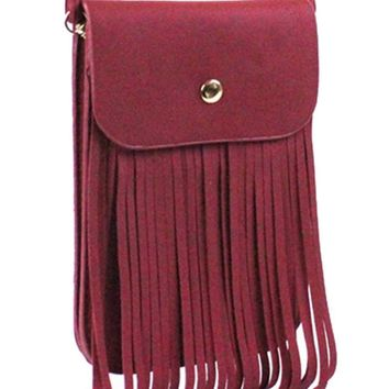 Fringed Cross Body Bag - More Colors Available