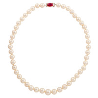 Van Cleef & Arpels GIA Natural Ruby Clasp Necklace