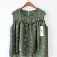 Cactus cotton sleeveless shirt