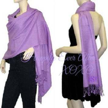 Monogram Pashmina Shawl Wedding Party Gift XL Wrap Size 28x78