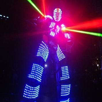 LED Robot / LED Costume / David Guetta Robot Suit / LED Robot Suit / Robot Clothes RGB Color Change