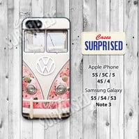 VW Golf ,Mini bus,Floral Vintage, iPhone 5 case, iPhone 5C Case, iPhone 5S case, Phone case, iPhone 4 Case, iPhone 4S Case, Phone Skin, 0727