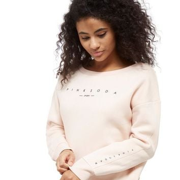 Pink Soda Sport Off The Shoulder Crop Crew Sweatshirt | JD Sports