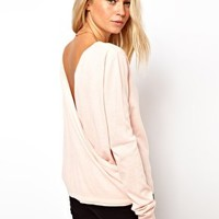 ASOS Drape Back Jumper at asos.com