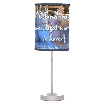 "Sassy ""successful woman"" quote photo table lamp"