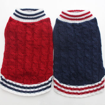 Boy Girl Cat Dog Sweater KNIT Jumper Hoody Pet Puppy Coat Jacket Winter Warm Clothes Apperal
