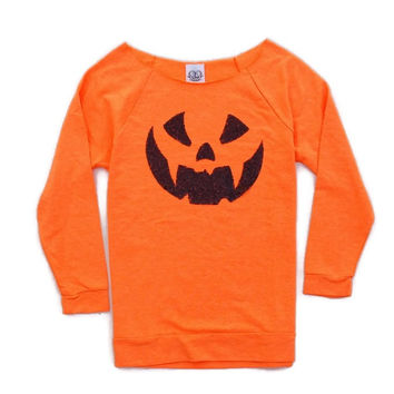 Jack O Lantern Sequin Patch Sweatshirt - Jumper