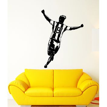 Vinyl Wall Decal Soccer Player Champion Game Sport Stickers (3258ig)