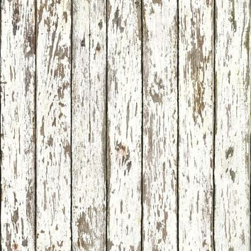 Brewster Wallpaper FFR13281 White Weathered Wood