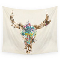 Society6 Cow Skull Wall Tapestry