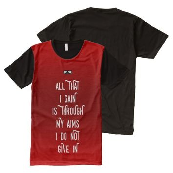 Gain Quote by Kat Worth Men's All-Over-Print T-Shirt