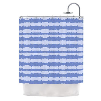 "Mydeas ""Nautical Breeze - Ocean Ripple"" Blue Aqua Shower Curtain"