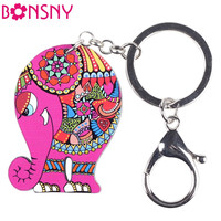 2pieces/lot  Acrylic elephant key chains for fashion lady , unique design,four colors can choose, shipping free