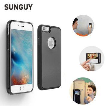 SUNGUY Anti Gravity Case for iPhone 5s se 6 6s 7 7plus Anti-gravity Nano Suction Soft Silicone Adsorption Case for iphone 8 plus