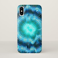 Blue Spiral Psychedelic iPhone X Case