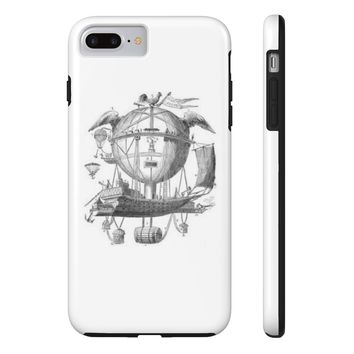 Tough iPhone 7 Plus with Hot Air Balloon Flying Airship Art Print