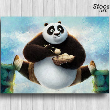 kung fu panda print nursery gift kungfu panda art cartoon decor