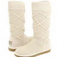 Cream Classic Argyle Knit UGG Boots [5879-Cream] - $112.89 :