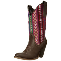 Spite Womens Silverwood Faux Leather Embroidered Cowboy, Western Boots