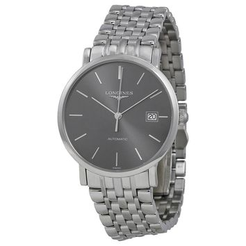 Longines Elegance Automatic Grey Dial Mens Watch L48104726