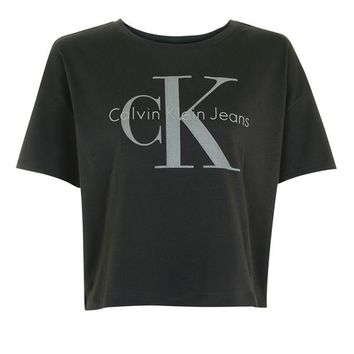 Cropped T-Shirt by Calvin Klein - Clothing