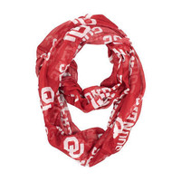 Oklahoma Sooners Sheer Red Infinity Scarf