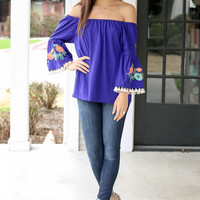 Gone Coastal Top - Blue