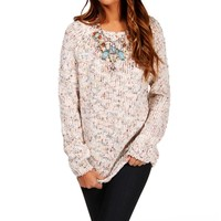 Light Tan Multi Knit Sweater