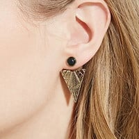 Faux Stone Etched Ear Jackets