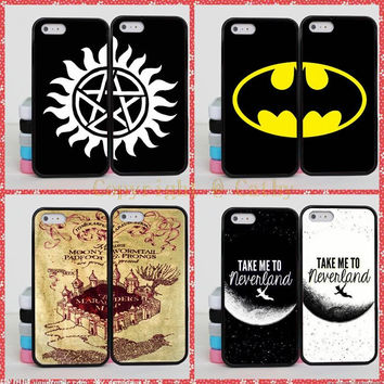 Batman Harry Potter Brain BFF Best Friends Case For Apple iPhone 5S 5 SE 4 4S 5C 6 6S 7 Plus Supernatural Mandala Case Cover