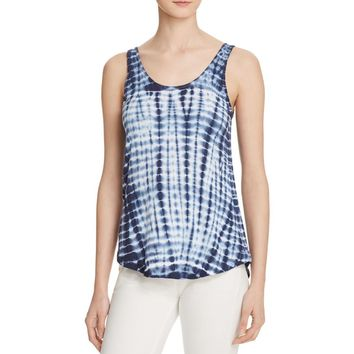 Project Social T Womens Linen Blend Tie-Dye Tank Top