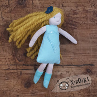 Winter fairy - Waldorf inspired ragdoll with golden hair