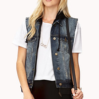 Forever Cool Distressed Denim Vest