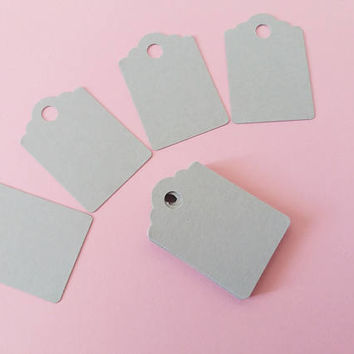grey gift tag gray gift label card christmas birthday gift tag scrapbooking ephemera making paper diy garland paper craft lasoffittadiste
