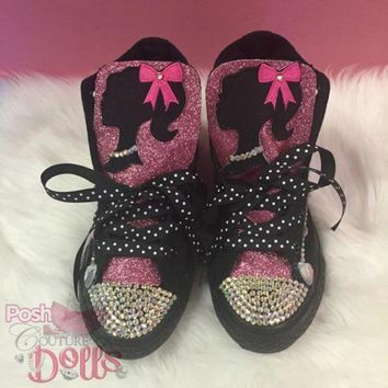 ONETOW barbie inspired custom bling converse
