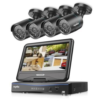 8CH 720P Day Night Security Cameras System with 10.1 inch Monitor