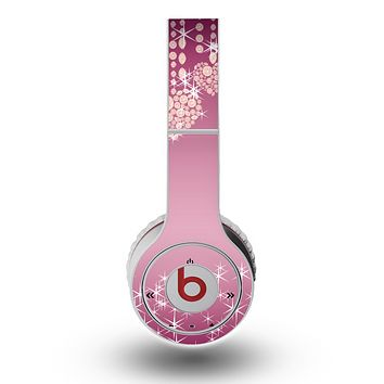 The Pink Sparkly Chandelier Hearts Skin for the Original Beats by Dre Wireless Headphones