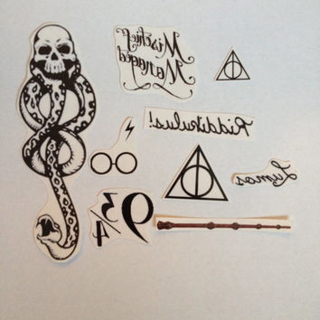 4 Harry Potter Temporary Tattoos- SmashTat