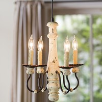 Four-Candle Chandelier Screw-In Pendant Light - Plow & Hearth