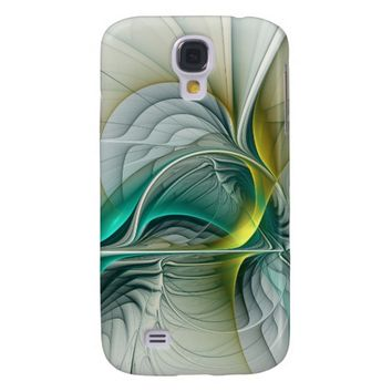 Fractal Evolution, abstract Art Samsung S4 Case
