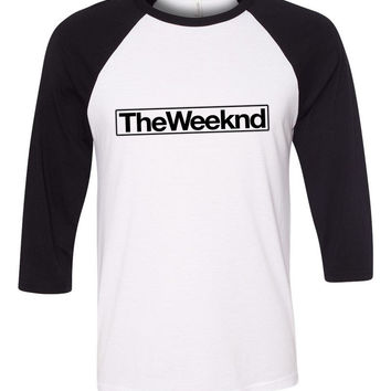 "The Weeknd ""The Weeknd"" Box Logo Baseball Tee"